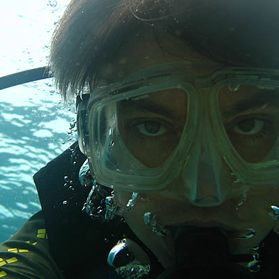 Picture of a Jon Chamberlain scuba diving in Bunaken, Indonesia in 2009